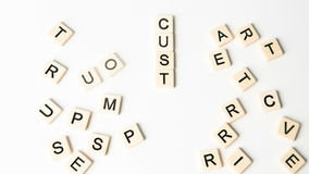 Customer relations buzz words formed into crossword shape stock video