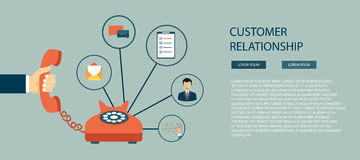 Customer relationship. vector illustration