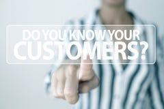 Customer relationship business concept stock photos