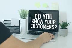 Customer relationship business concept royalty free stock images