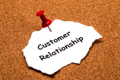 Customer relationship concept Stock Photos