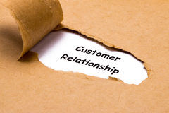 Customer relationship concept Royalty Free Stock Image