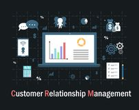 Customer relationship management illustrazione vettoriale