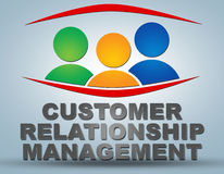 Customer relationship management Fotografia Stock