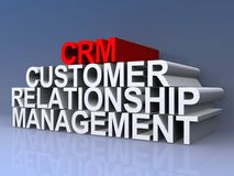 Customer relationship management Fotografia Stock Libera da Diritti