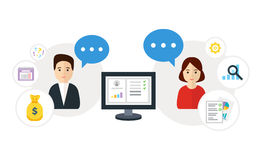 Customer relationship management Fotografia Stock Libera da Diritti