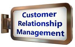 Customer Relationship Management on billboard background. Customer Relationship Management wall light box billboard background , isolated on white Stock Photography