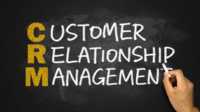 Customer relationship management concept Royalty Free Stock Images
