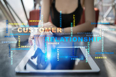 Customer relationship management concept. Words cloud. Stock Image