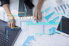 Customer relationship management concept. Words cloud. Royalty Free Stock Photo