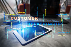 Customer relationship management concept. Words cloud. Royalty Free Stock Images