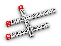 Customer relationship management (CRM). Crossword puzzle Royalty Free Stock Image