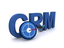 Customer relationship management, CRM Fotografia Stock