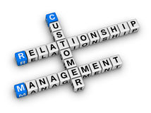 Customer relationship management (CRM). Crossword puzzle Stock Photography