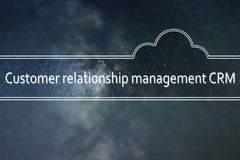 Customer relationship management CRM word cloud Concept. Space. Background. word cloud Concept Royalty Free Stock Images
