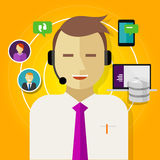 Customer relationship management del crm della call center Fotografia Stock Libera da Diritti