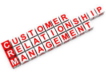 Customer relationship management di CRM Immagini Stock