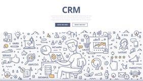 Customer Relationship Management Doodle Concept royalty free illustration