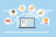 Customer relationship management. Idea of marketing, targeting and organization Royalty Free Stock Photography