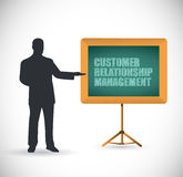 Customer relationship management presentation. Concept illustration design over a white background Royalty Free Stock Images
