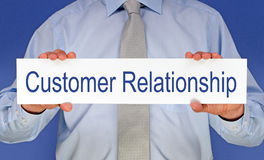 Customer relationship sign Stock Images
