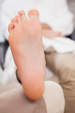 Customer relaxing their foot Royalty Free Stock Image