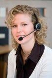 Customer Representative. At a front desk Stock Images