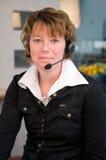 Customer Representative -2. Customer Representative at a front desk Stock Image