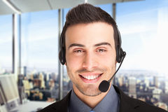 Customer representative Stock Photo