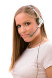 Customer representative girl Stock Photography