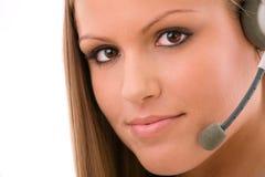 Customer representative girl Royalty Free Stock Images