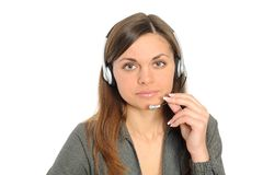 Customer Representative with headset Stock Photos