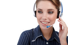 Customer Representative with headset Royalty Free Stock Photo