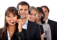 Customer representative service team Royalty Free Stock Image