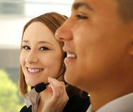 Customer Representative Smiling Royalty Free Stock Photo