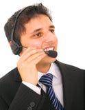 Customer Representative Talking Stock Image