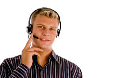 Customer representative wearing headset Stock Photos