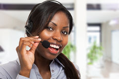 Customer representative at work Royalty Free Stock Image