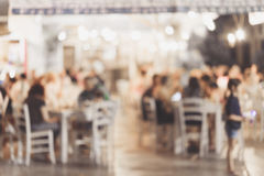 Customer at restaurant blur background with Stock Photography