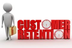 Customer Retention with 3d man concept Royalty Free Stock Photos