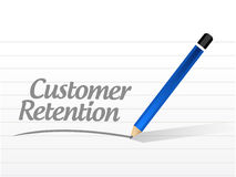 Customer retention message sign. Illustration design over a white background Royalty Free Stock Photos