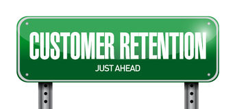 customer retention sign illustration Royalty Free Stock Images