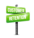 customer retention street sign Royalty Free Stock Photos
