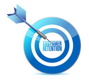 Customer retention target illustration Stock Images