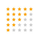 Customer review business concept. Stars rank vector illustration Stock Images