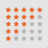 Customer review business concept. Stars rank vector illustration. Rating feedback product Royalty Free Stock Photos