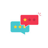 Customer review communication vector symbol, concept of feedback, testimonials, online survey, rating stars. Positive and negative comments, chat bubble Royalty Free Stock Photography