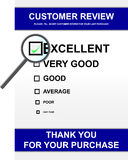 Customer review form. Vector illustration of customer review form Stock Photography