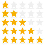 Customer review give a five star. Positive feedback concept. Customer review give a five star. Positive feedback concept stock illustration