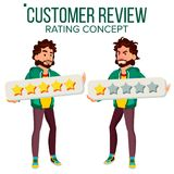 Customer Review Vector. Happy And Unhappy Man User. Positive, Negative Review. Testimonials Messages. Isolated Flat. Customer Review Vector. Happy And Unhappy Royalty Free Stock Photo